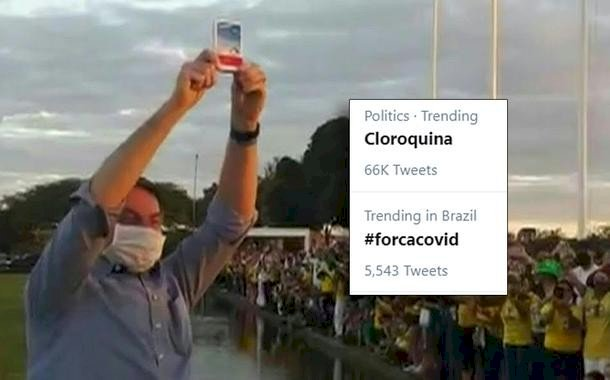 Novo teste positivo do Presidente Bolsonaro desmoraliza a cloroquina e inunda a internet de piadas
