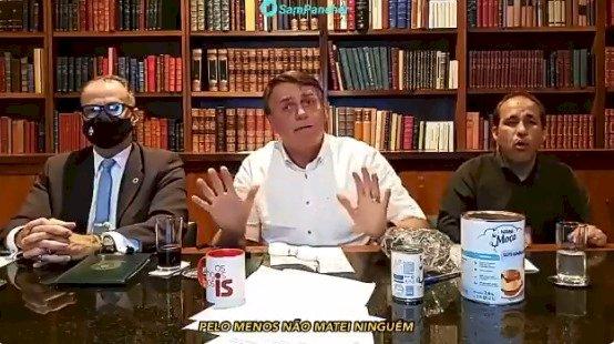 """Bolsonaro diz que """"tudo bem"""" se cloroquina for placebo contra a Covid: """"Pelo menos não matei ninguém"""""""