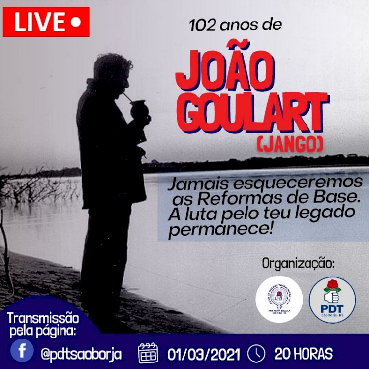 CONVITE:  1º de março, 102 ANOS DE JANGO.