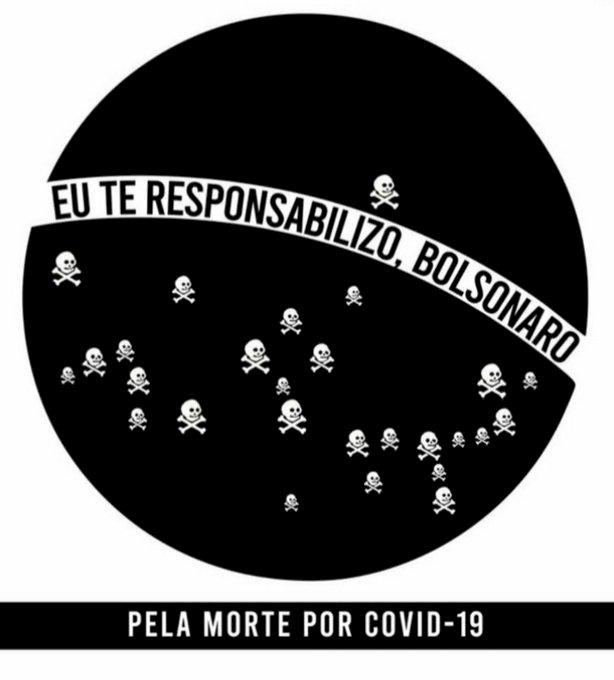 Campanha que responsabiliza Bolsonaro por mortes por covid bomba no Twitter