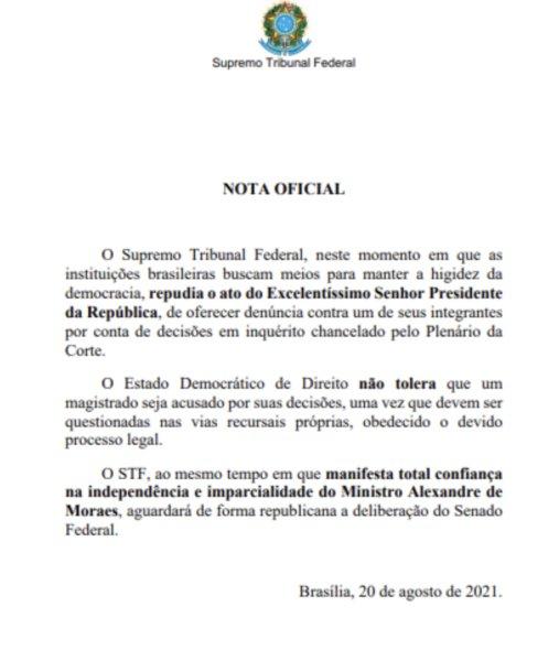 Bolsonaro pede impeachment do ministro Alexandre de Moraes e abre crise sem precedentes
