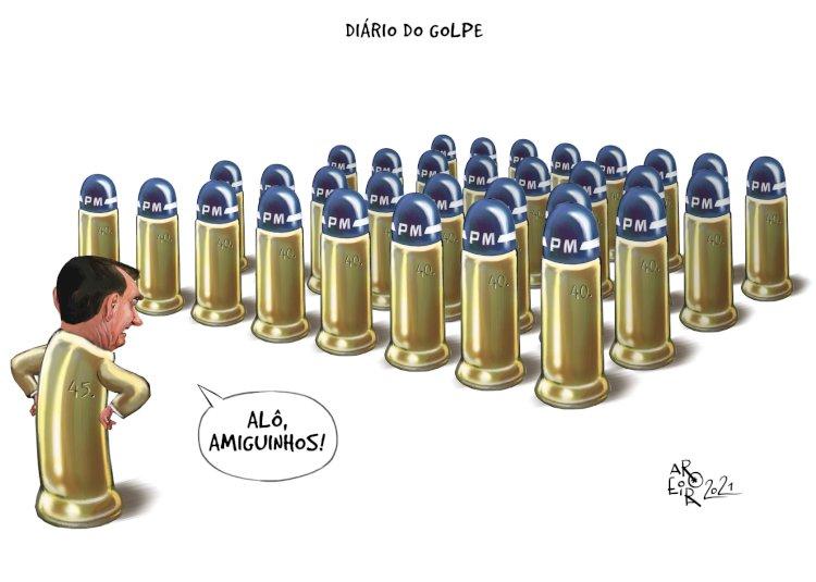 Ensaio de golpe avança sob o comando escancarado de Bolsonaro