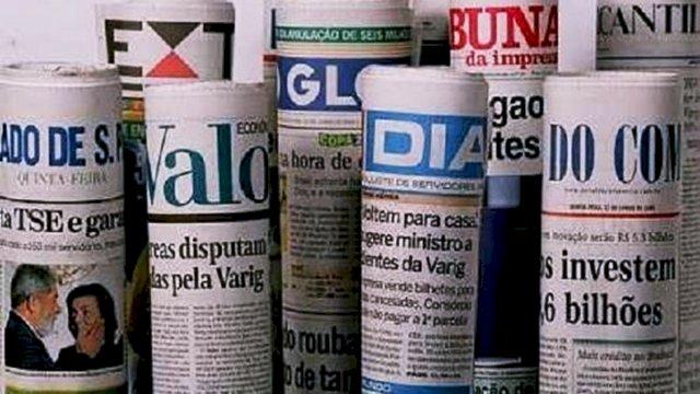 Manchetes de domingo,dos maiores jornais brasileiros